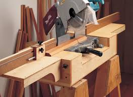 Mobile Miter Saw Station Woodworking Project Woodsmith Plans