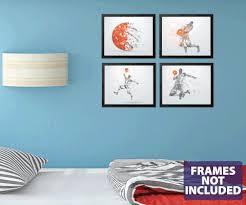 Basketball Wall Art 4 Pack Basketball Player Wall Decals 0544 Wall Decal Studios Com