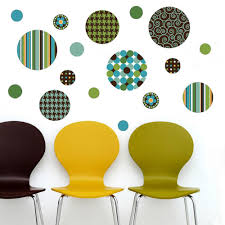 Delightful Dots Teal Lime Green And Brown Wall Decals Eco Friendly