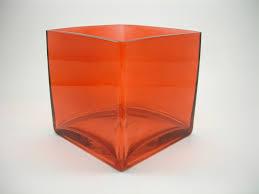 vase cube 6 x 6 x 6 red cs 6 ds18 x 1