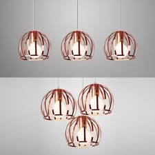 industrial globe cage pendant lamp