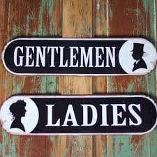 metal bathroom signs vintage bathroom