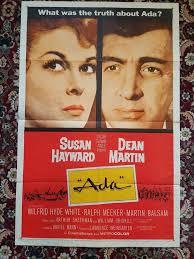 """Dean Martin """" - Susan Hayward """"Ada"""" One Sheet"""
