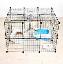 26 Panels Pet Playpen Small Animal Cage Indoor Portable Metal Wire Yard Fence For Small Animals With Pet Cat Water Feeder Buy Online At Best Price In Uae Amazon Ae