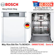 Máy Rửa Bát BOSCH SMI88TS36E Serie 8 | Tổng Kho Bếp Chính Hãng Hà Nội