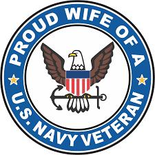 U S Navy Veteran Proud Wife Decal