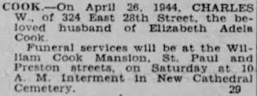 Charles William Cook, death notice / - Newspapers.com