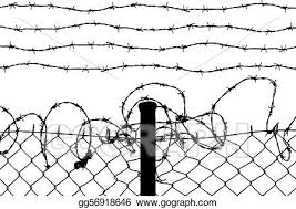 Vector Stock Wired Fence With Barbed Wires Stock Clip Art Gg56918646 Gograph