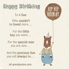 Quotes About Sons Birthday Cards Quotesgram