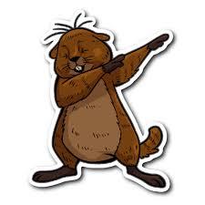 Groundhog Day Funny Dabbing Dance Groundhog Sticker Car Bumper Decal S Happytailsclothing