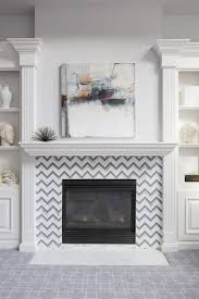 chevron fireplace surround