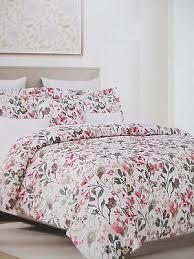nicole miller 300tc cotton white pink