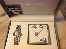 jewelry set hearts necklace earrings