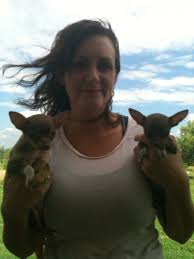 Wendi with Gizmo and Chica