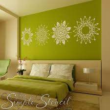 Mandala Vinyl Wall Art Romantic Master Bedroom Focal Point Ideas Simple Stencils