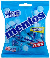mentos chewy mint 40 ea nutrition