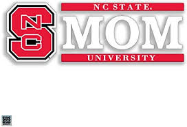 Amazon Com Nc State Wolfpack 6 Mom Logo Auto Decal Sports Outdoors