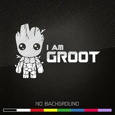 Guardians Of The Galaxy Decal Sticker I Am Groot Marvel Choose Color Ebay