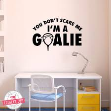 Lacrosse Goalie Gifts Wall Stickers Bedroom Wall Decals Removable Wall Decals