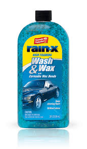 rain x wash wax with carnauba wax