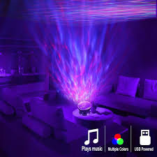 Coquimbo Ocean Wave Projector Led Night Light Built In Music Player Remote Control 7 Light Cosmos Star Lum Led Lighting Bedroom Night Light Projector Neon Room