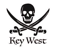 Amazon Com Custom Key West Vinyl Decal Jolly Roger Bumper Sticker For Coolers Boats Laptops Car Windows Pirate Design Handmade