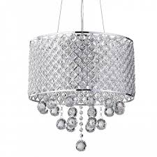 round beaded drum crystal chandelier