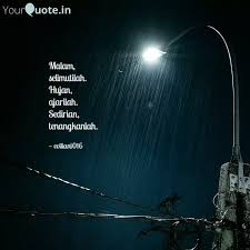 malam selimutilah hujan quotes writings by evi liani