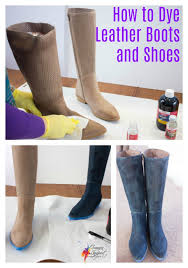 how to dye leather shoes inside out style