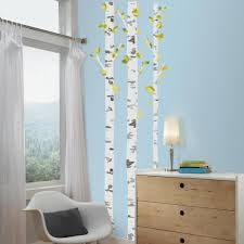Birch Trees Peel And Stick Giant Wall Decals Roommates Decor