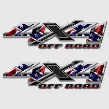 Silverado 4x4 Confederate Flag Rebel Off Road Truck Decal