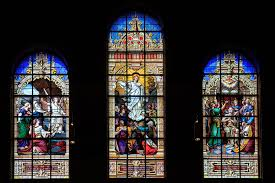 stained glass window art at trinity