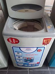 Máy giặt Sanyo 6,8kg W90S1 giặt sấy êm - 76862590