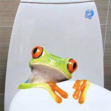 3d Frog Wall Stickers Decals Kindergarten Children Bedroom Toilet Wall Decals Cartoon Funny Cutewall Poster Mural Aliexpress