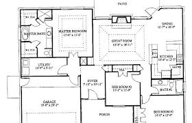 three bedroom house floor plans