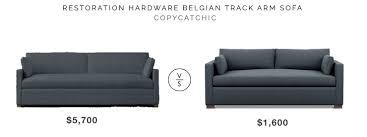 restoration hardware belgian track arm