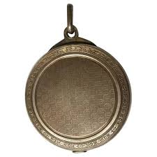 french antique silver slide mirror