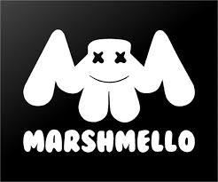 Marshmello Edm House Music Dj Logo Vinyl Decal Laptop Speaker Car Wind Kandy Vinyl Shop