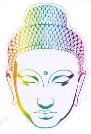 Buddha Head Window Sticker Decal Peace Resource Project