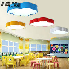 Led Cloud Kids Room Lighting Children Ceiling Lamp Baby Ceiling Light With Yellow Blue Red White For Boys Girls Bedroom Fixtures Ceiling Lights Aliexpress