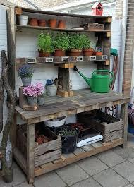 garden work bench best pallet potting