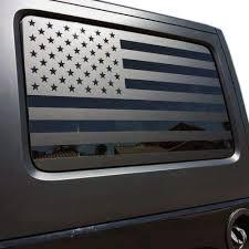 Jeep Wrangler 4 Door Xplore Offroad Precut American Flag Window Decals Matte Black Usa Vinyl For