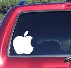 Apple Decal Vinyl Sticker Car Laptop Tablet Window Phone Iphone Vinyl Sticker Bumper Stickers Funky Gifts