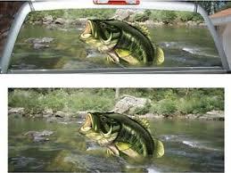 Large Mouth Bass Fish Fishing Swamp Rear Window View Thru Graphic Decal Wrap Ebay