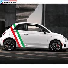 Italy Flag Stripes Vinyl Decal Racing Sport Styling Door Side Decor Sticker Auto Body Customized Decals For Fiat 500 Car Stickers Aliexpress