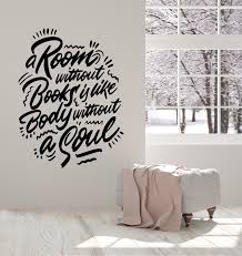 Vinyl Wall Decal Book Literature Reading Room Bookworm Quote Stickers Wallstickers4you