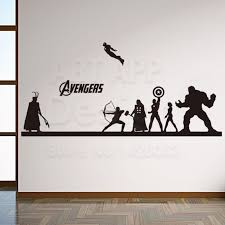Art New Design Home Decoration Vinyl Cheap Avengers Hulk Wall Sticker Removable House Decoration Iron Man Decals In Rooms Avengers Wall Sticker Diy Home Decor