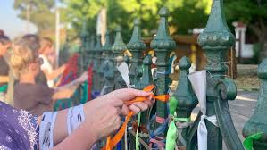 Loud Fence Ribbons In Show Of Solidarity For Sexual Abuse Survivors In Ballarat Cut Down Abc News