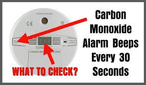 carbon monoxide alarm going off every