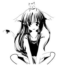 Shop Japanese Manga Girl Cat Vinyl Wall Decal Overstock 8637022